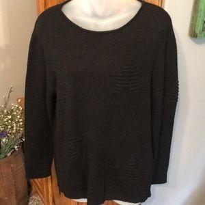 Theory Black Soft Cashmere Sweater Size Medium